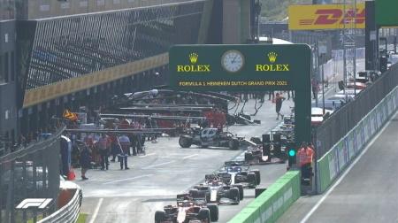 2021年F1第13戦F1オランダGP、FP2結果