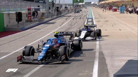 2021年F1第17戦F1アメリカGP、FP2結果