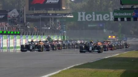 2021年F1第14戦スプリント予選のスタート