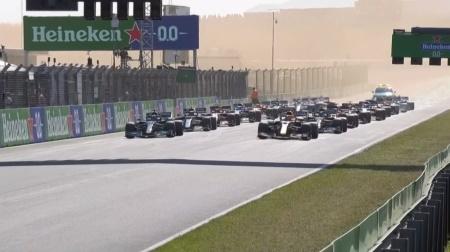 2021年F1第13戦のスタート