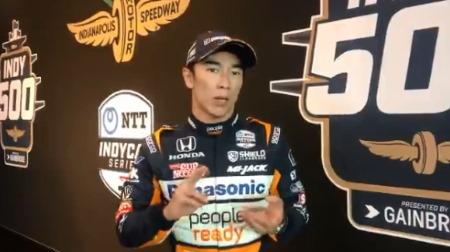 佐藤琢磨、第105回インディ500初日は3位