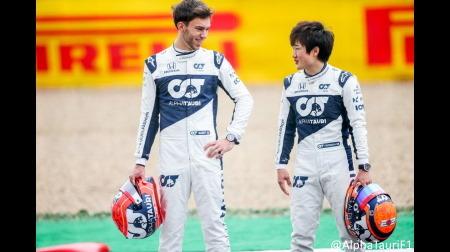 角田とガスリー、F1公式が採用