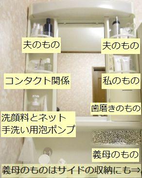 洗面台収納グループ分け