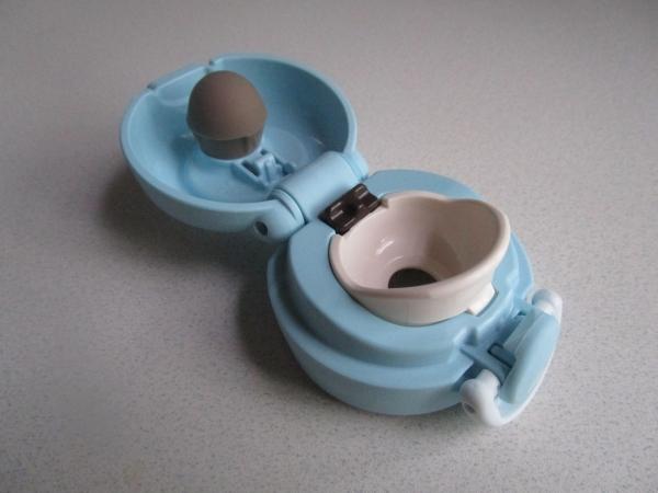 サーモス 水筒 真空断熱ケータイマグ ワンタッチオープンタイプ アイスグリーン 350ml JNR-351 (11)