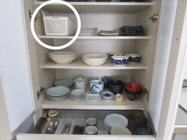 キッチン収納食器棚 あるものでまかなう2