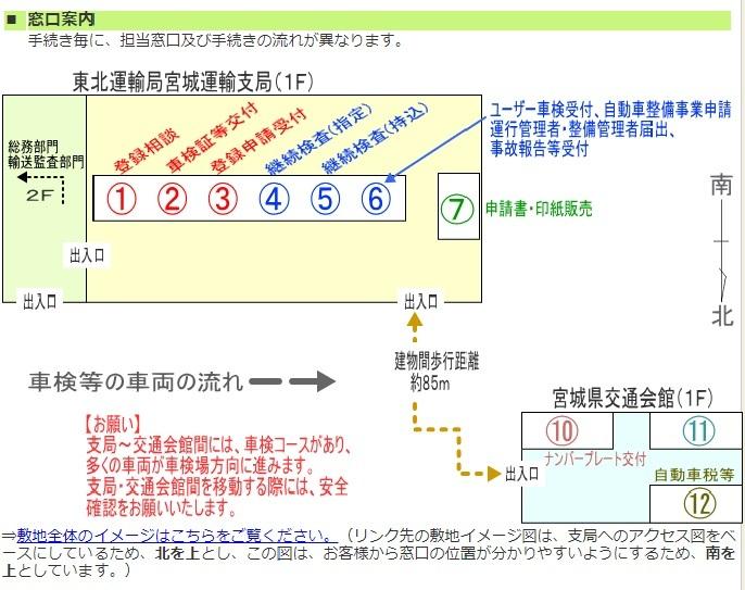 運輸支局案内図