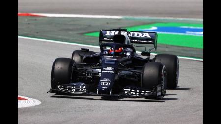F1スペインGP初日:アルファタウリの角田「ポジティブな感触」「自信を持ってドライブできた」