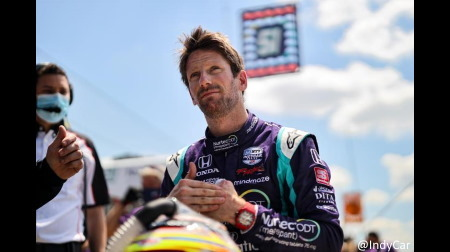 今年インディカーデビューした元F1ドライバーのグロージャンがインディアナポリスGPでPP獲得