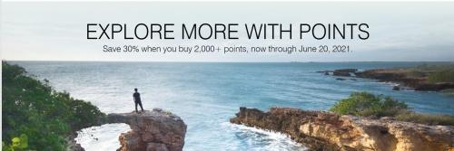 マリオット Bonvoy ポイント購入で30%OFF_購入制限2倍キャンペーン 2021年6月20日まで