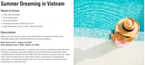 マリオット ベトナムを対象としたセール 2022年3月31日までの滞在が対象