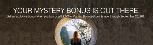 マリオットポイント購入&ギフトでポイントミステリーボーナスキャンペーン