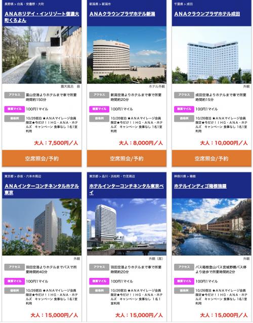 IHGリワード ANAマイレージクラブ会員限定 IHG・ANA・ホテルズキャンペーン1