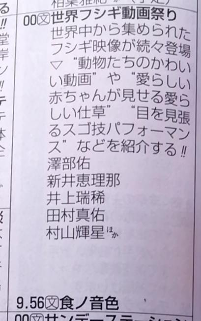 世界フシギ動画祭り 田村真佑