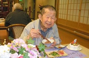 服部一馬103歳の誕生会(2013年4月22日)