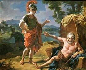 ディオゲネスとアレクサンドロス大王