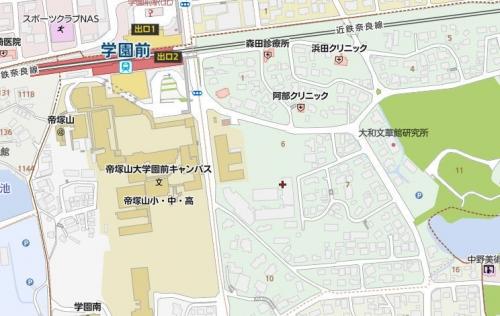 210602学園前駅地図