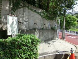 目切坂 説明版 三田用水散策5