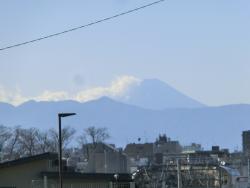 代田富士見橋から見た富士山 代田・代沢散策1