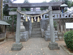代田八幡神社 奥の鳥居 代田・代沢散策1