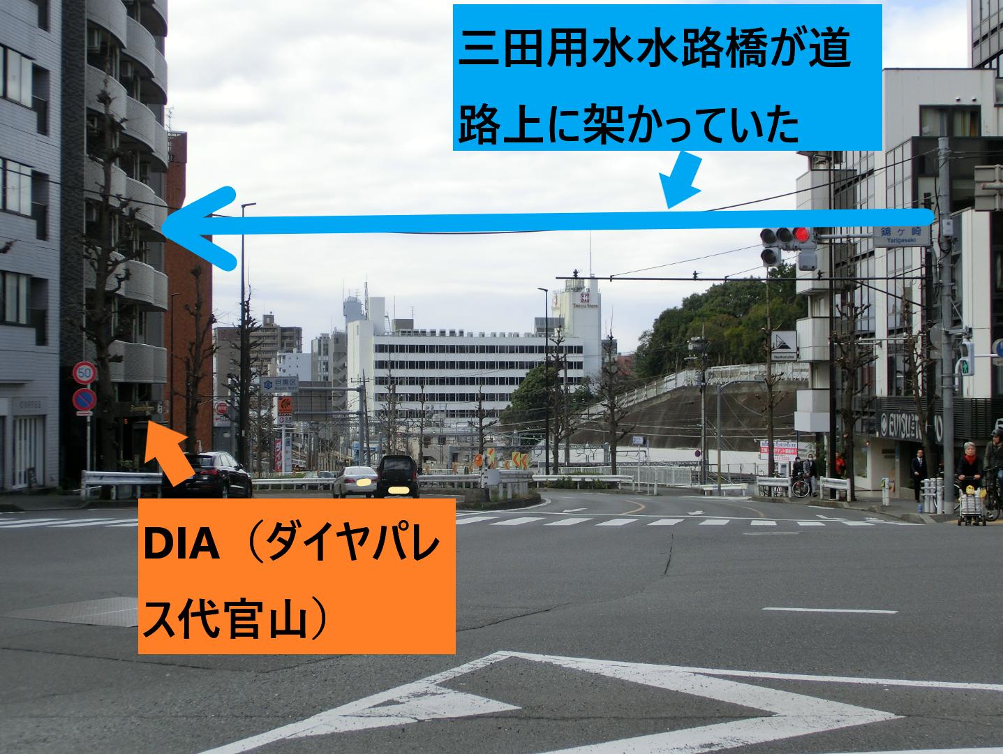 鎗ヶ崎交差点 三田用水跡散策6