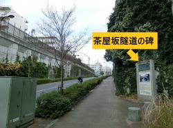 茶屋坂隧道の碑 三田用水散策7