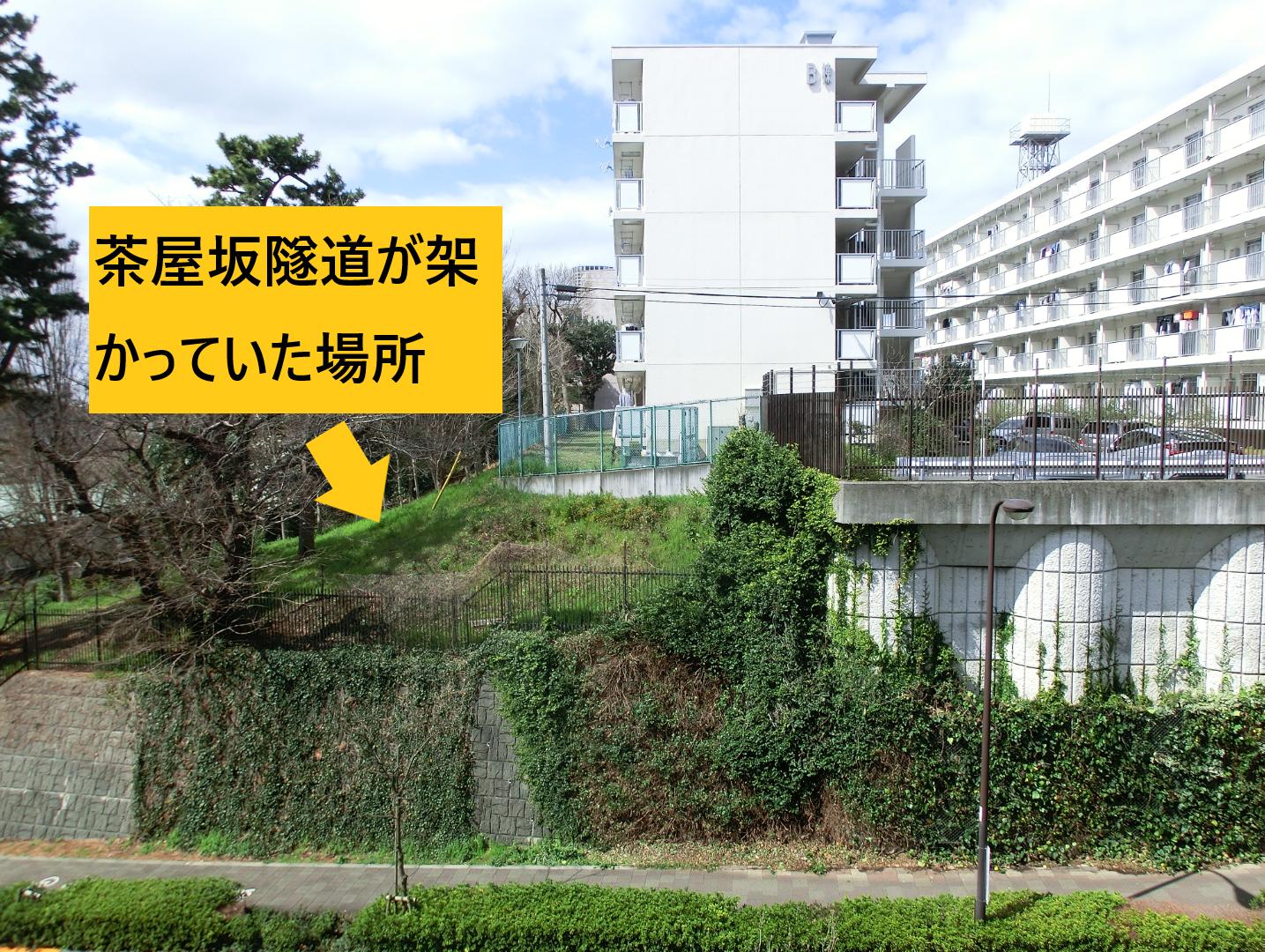 茶屋坂隧道が架かっていた場所 三田用水散策7