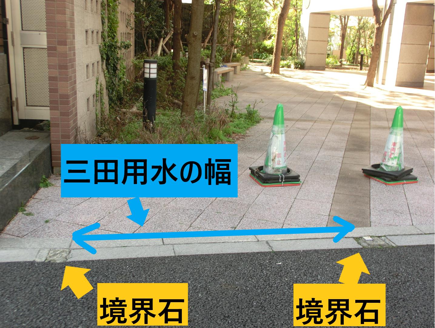 2つの境界石 三田用水散策8
