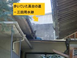 妙円寺から見た高台の道