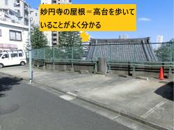 妙円寺の屋根 三田用水散策8