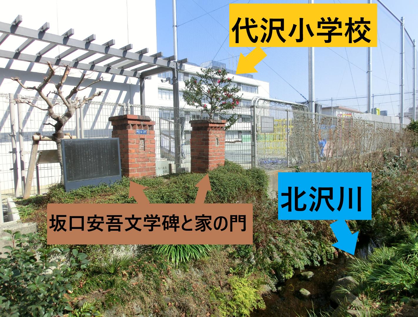 坂口安吾文学碑の由来1 代田・代沢散策6
