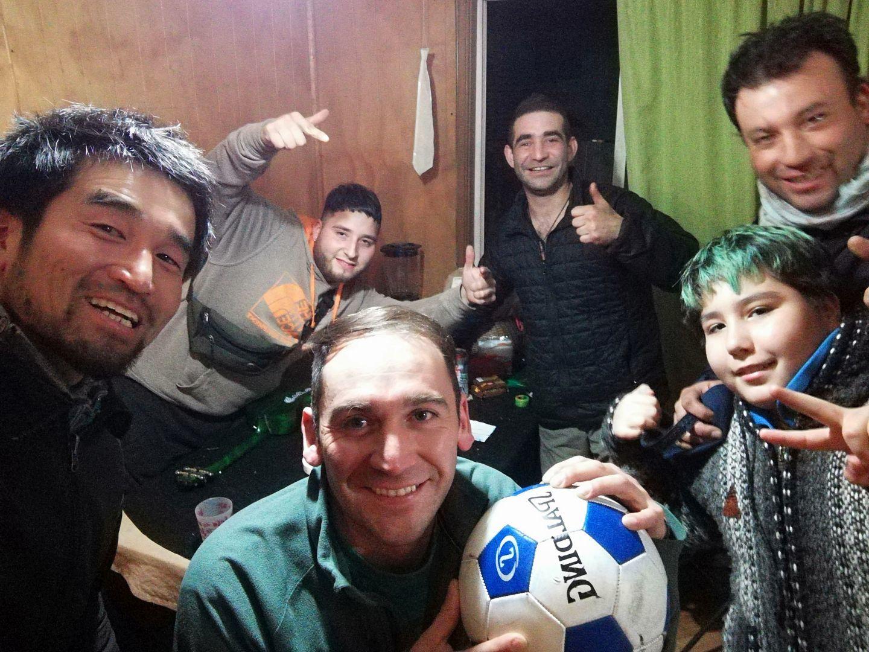 con amigos de coyhaique