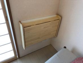 テレワーク個室を部屋の一角に作ろう! 石膏ボードに取り付ける折り畳み式デスク♪