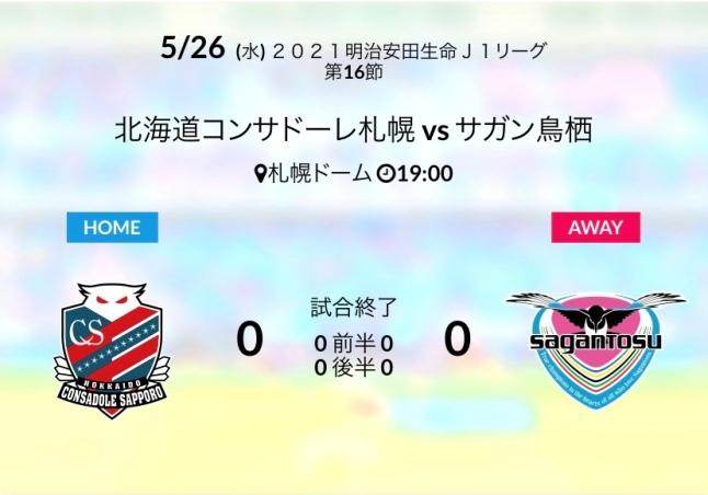 アウェイ札幌戦結果