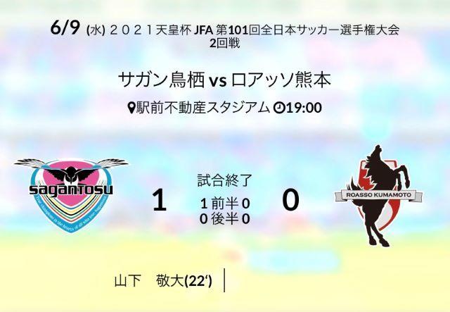 天皇杯ホーム熊本戦結果