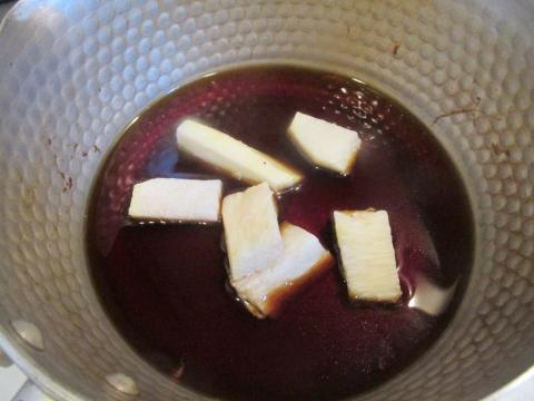 長芋を煮る1