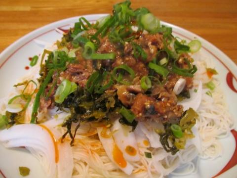 冷やし胡麻高菜サバ素麺1