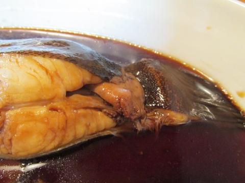ナメタガレイの煮付けアップ1
