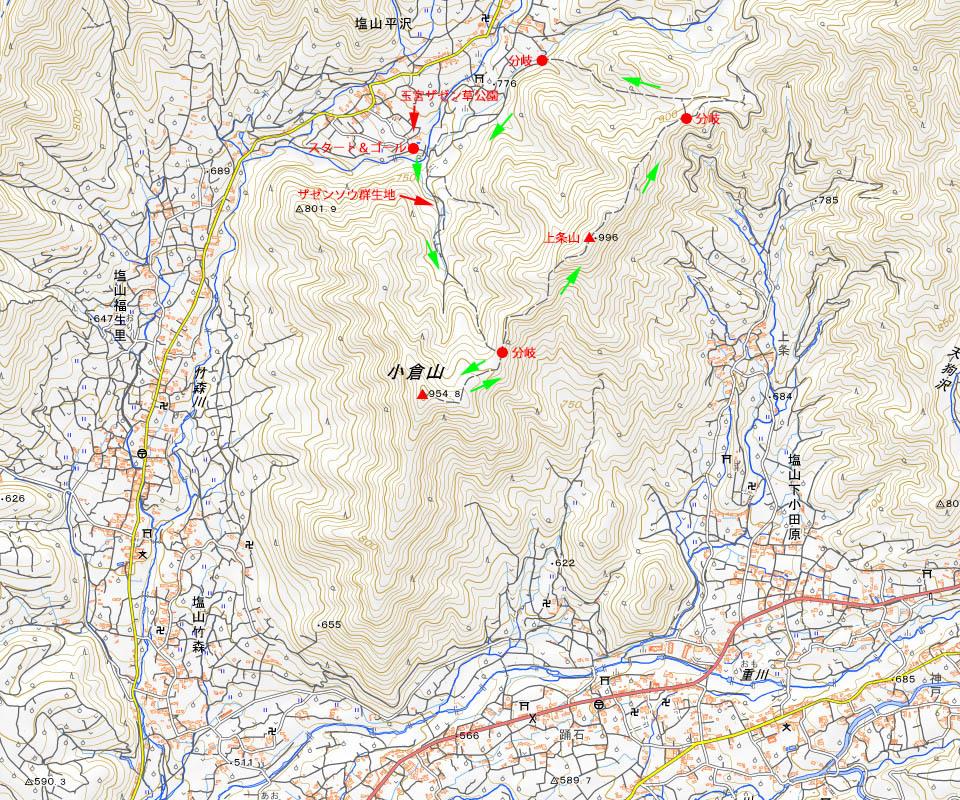 小倉山コース図