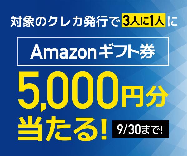3人に1人!5,000円分のAmazonギフト券が当たるキャンペーン!