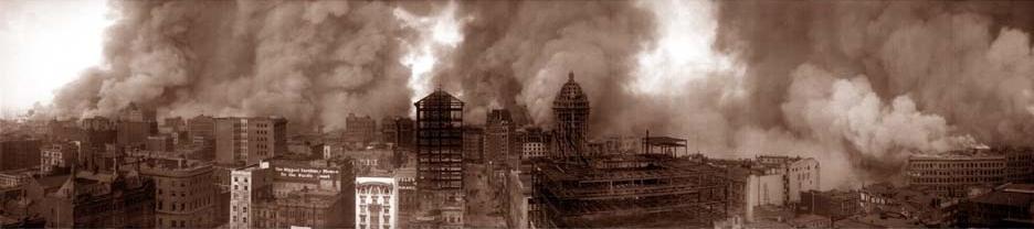 炎上するサンフランシスコ市街