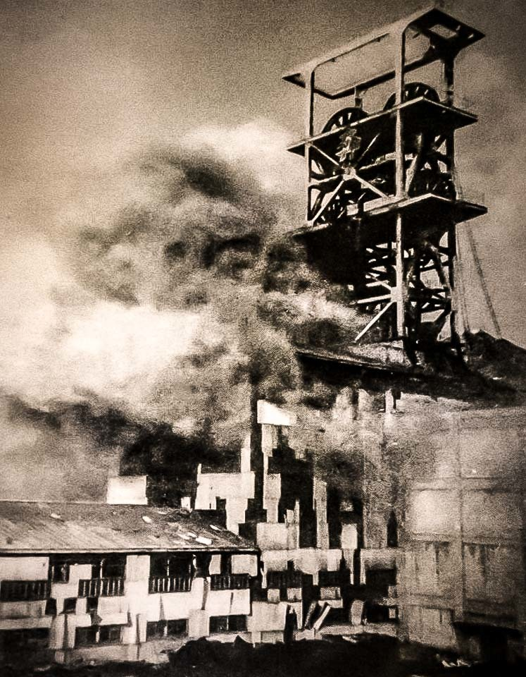 昭和46年に起きた住友奔別炭鉱の閉山時の爆発事故の様子