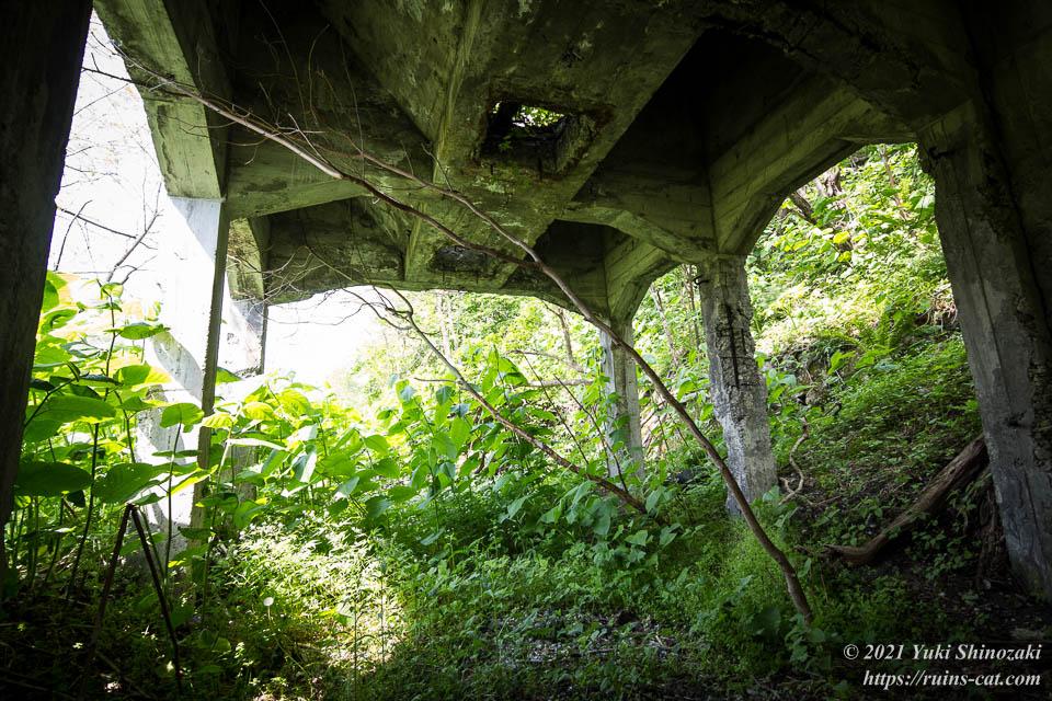 旧炭鉱施設 ホッパー下部