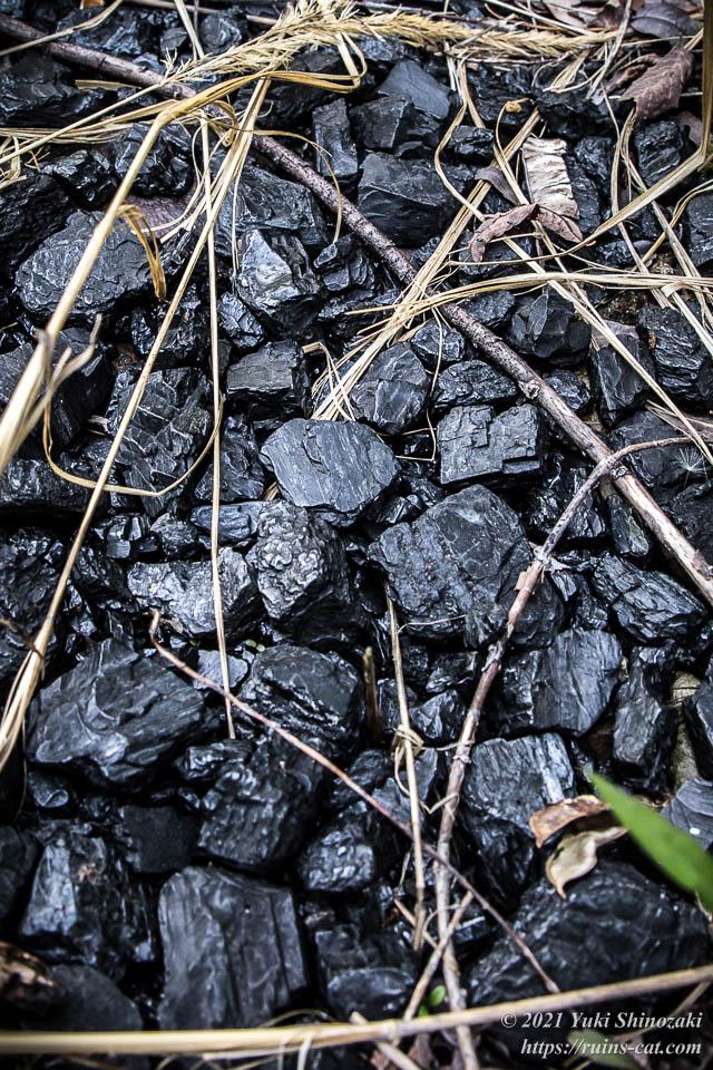 ホッパー下部に溜まっていた石炭