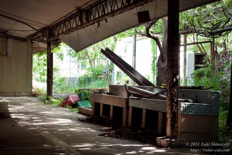 木漏れ日の差し込む廊下