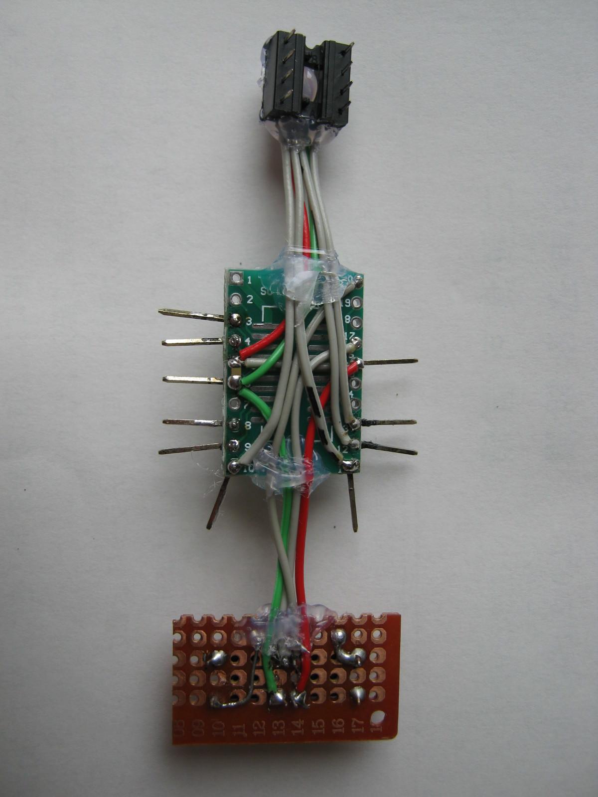 STM32電子オルゴール基板裏