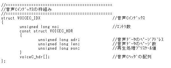 STM32電子オルゴール音声Cインデックス
