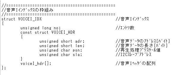 STM32電子オルゴール音声Iインデックス