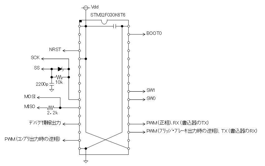 STM32電子オルゴール回路図K6T6SPIメモリ