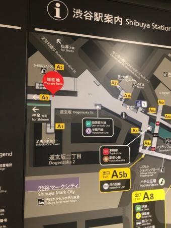呪術廻戦16巻の渋谷巨大広告_地図