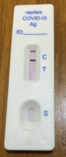 マツキヨの新型コロナウイルス抗原検査キット_陰性